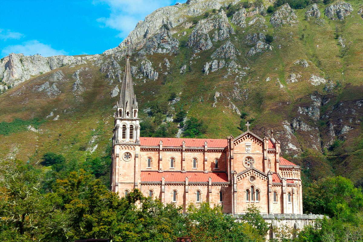 Basilica de Covadonga en Asturias