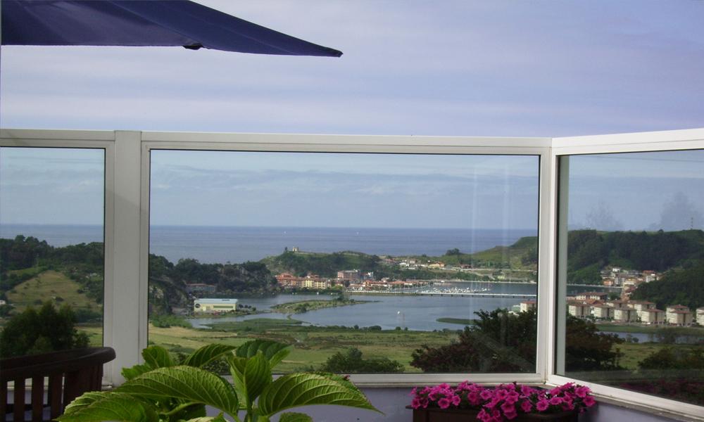 Vistas al mar y a Ribadesella del Mirador del Sella